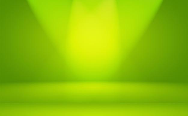 Quarto vazio de fundo de estúdio abstrato de gradiente verde liso de luxo com espaço para seu texto e imagem