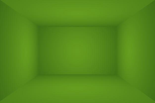 Quarto vazio de fundo de estúdio abstrato de gradiente verde liso luxuoso com espaço para seu texto e imagem