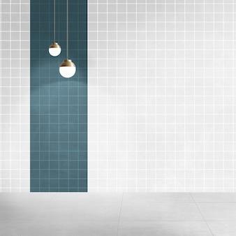 Quarto vazio moderno com design interior autêntico