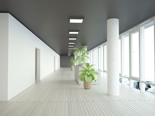 Quase vazio corredor chillout lugar na sede