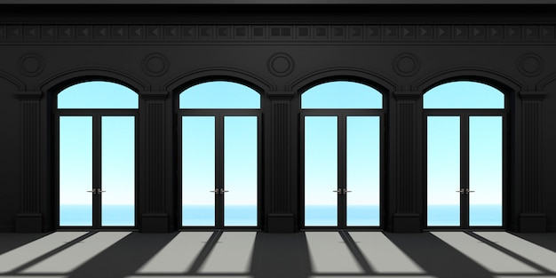 Quatro portas arqueadas