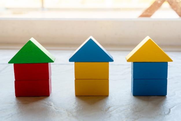 Quebra-cabeça casa quebra-cabeça para o conceito de negócio global