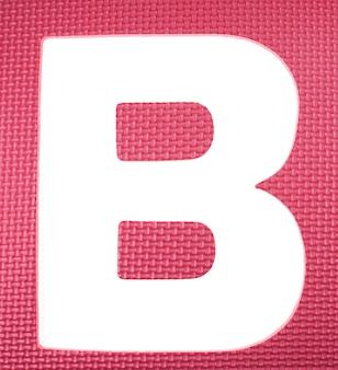 Quebra-cabeça colorido da espuma do alfabeto.