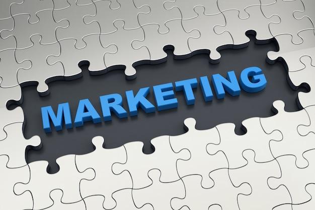 Quebra-cabeça de marketing