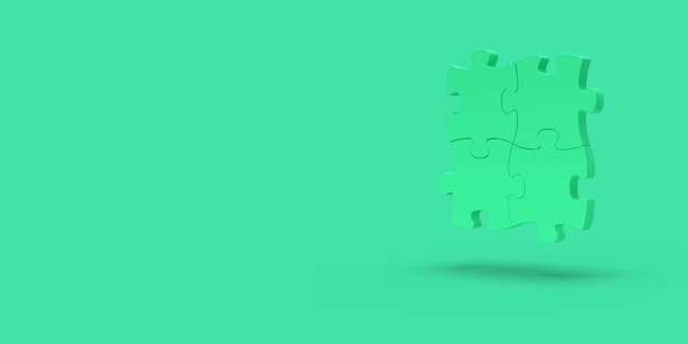 Quebra-cabeça verde em verde