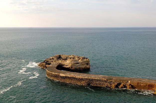 Quebra-mar em biarritz
