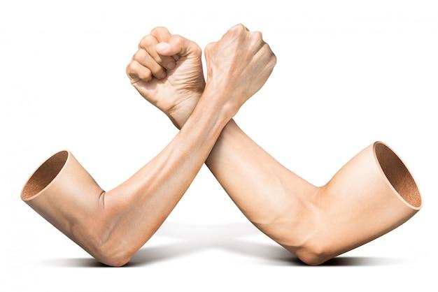 Queda de braços em branco