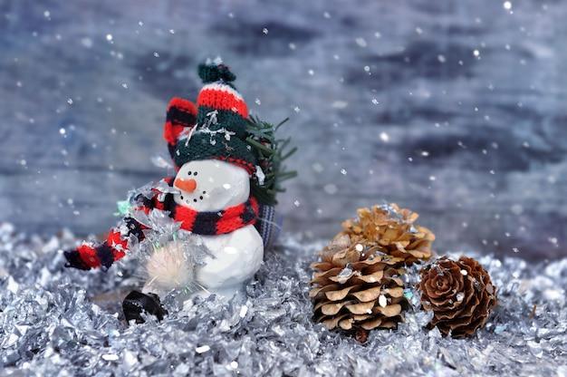 Queda de neve no boneco de neve