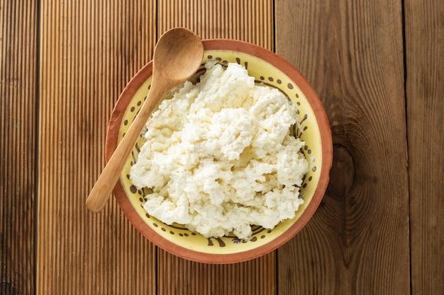 Queijo tipo cottage. laticínios, cálcio e proteína.