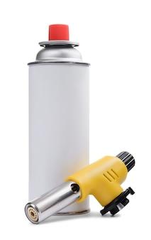 Queimador de tocha de gás manual e lata de spray de gás
