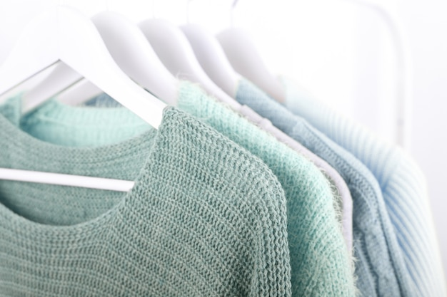 Quente de malha, outono, roupas de inverno
