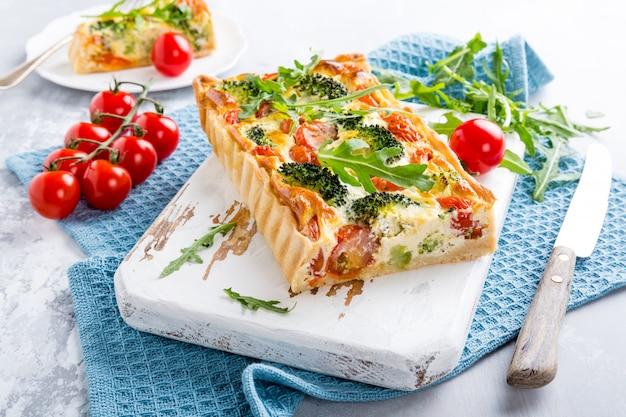 Quiche caseiro vegetariano