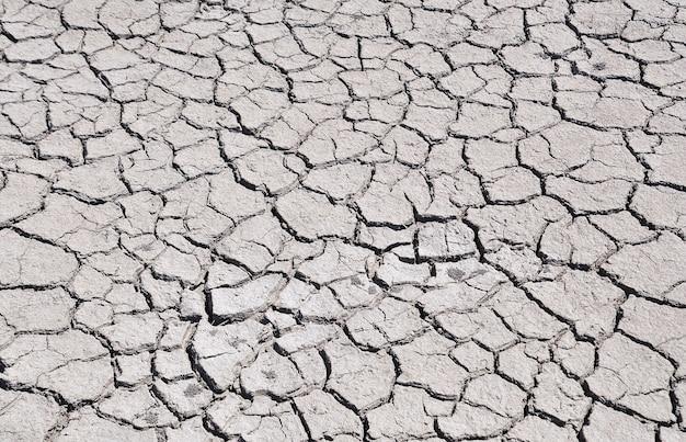 Rachado pela seca no chão, vista de cima