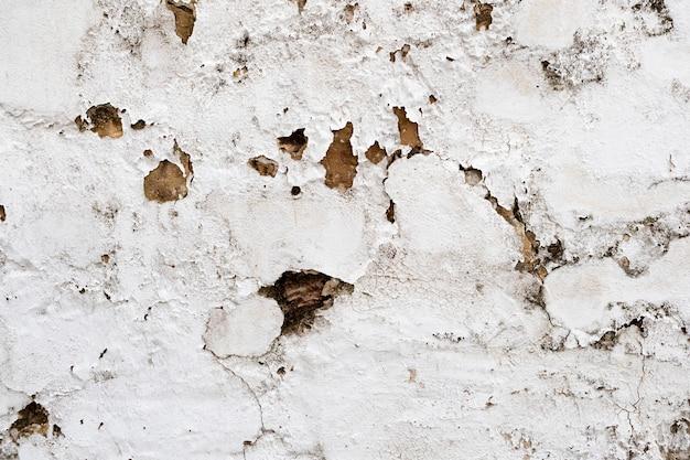 Rachadura no piso de cimento. parede danificada