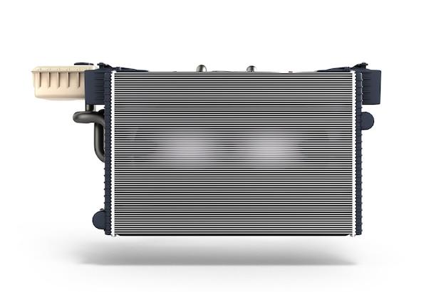 Radiador de carro isolado em renderização 3d de fundo branco