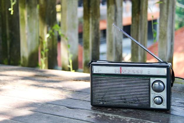 Rádio antigo retro