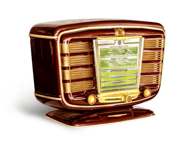 Rádio vermelho antigo o