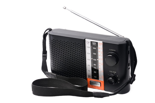 Rádio vintage para ouvir programas de rádio