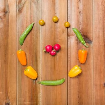 Radishes no círculo de vegetais
