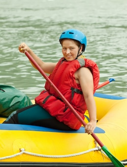 Rafting na jangada