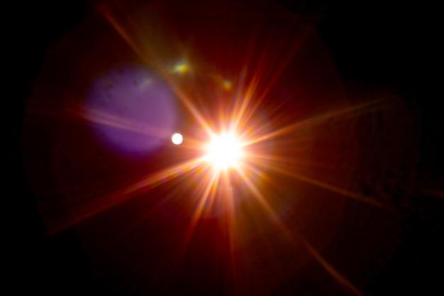 Raio do sol no fundo preto