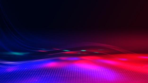 Raios de luz abstratos de néon em um fundo escuro. efeito de luz, show de laser, reflexão de superfície. radiação ultravioleta, boate.