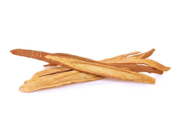 Raiz de alcaçuz, usada na fitoterapia chinesa. erva para uma boa saúde.