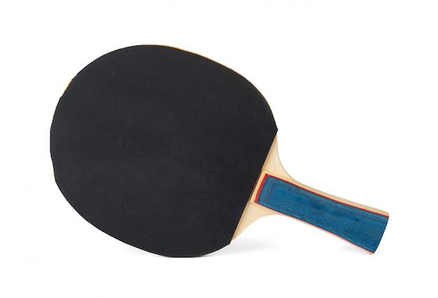 Raquete de tênis de mesa, isolada no fundo branco