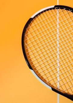 Raquete de tênis mínima ainda vida
