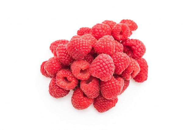 Rasberry fresco em branco