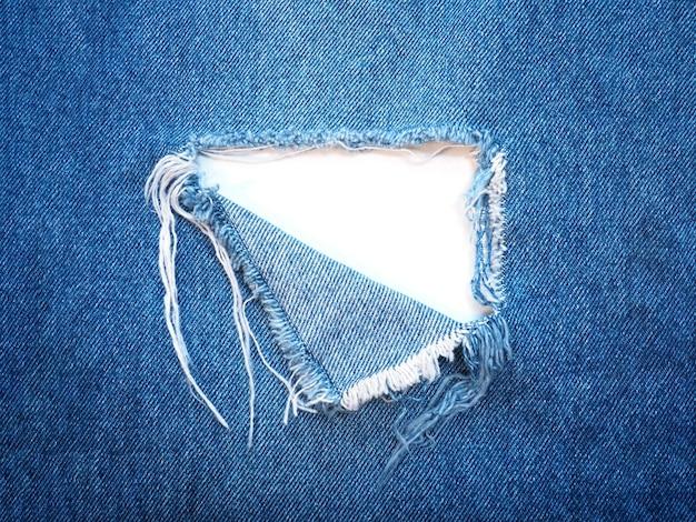 Rasgado padrão rasgado de jeans azul claro