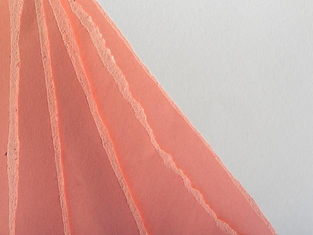 Rasgos coloridos de papel