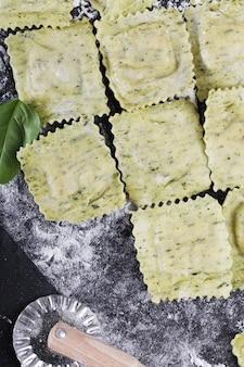 Raviolis feitos à mão