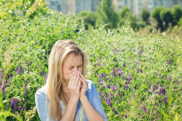 Reação alérgica à floração