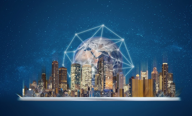 Realidade aumentada, tecnologia de cidade inteligente.