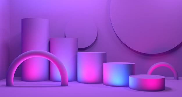 Realismo moderno em profundidade 3d. renderização 3d em segundo plano