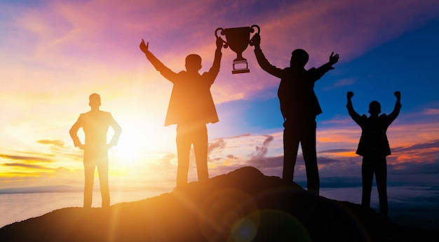 Realização e sucesso da meta de negócios