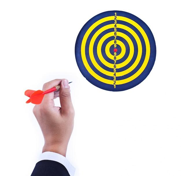 Realização sorte seta apontando estratégia