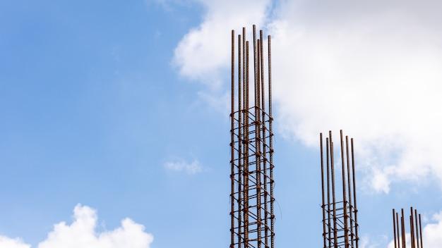 Rebar para a construção de um edifício