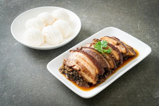 Receitas de cubbage mei cai kou rou ou barriga de porco com mostarda swatow - estilo comida chinesa