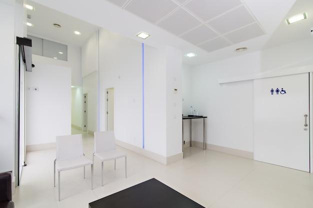 Recepção moderna interior da clínica odontológica