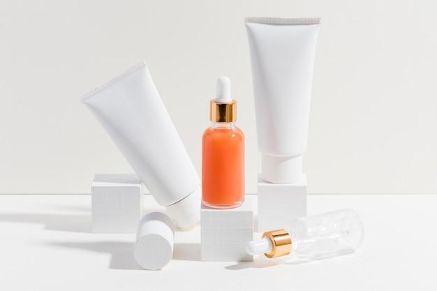 Receptor de manteiga corporal close-up