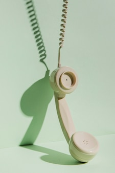 Receptor de telefone vintage com cabo