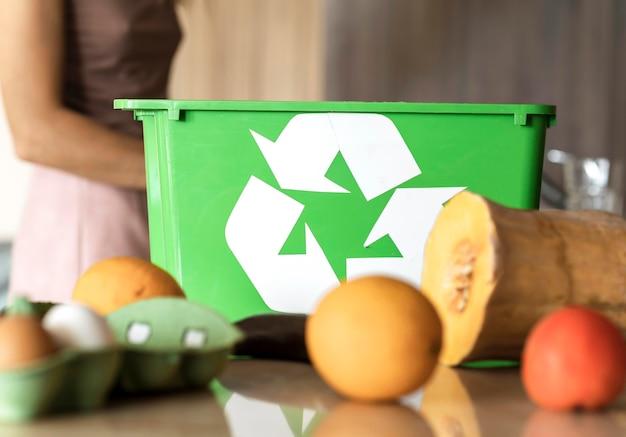 Reciclagem individual de vegetais orgânicos