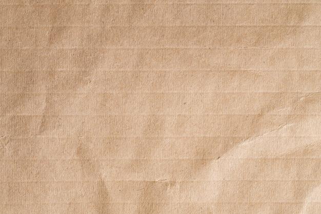 Reciclar papel amassado textura marrom, superfície de papel velho