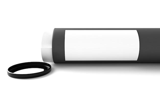 Recipiente de maquete de tubo de papel