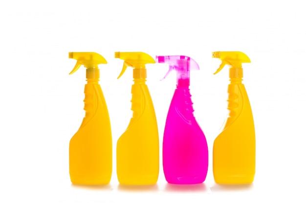 Recipiente plástico de produto de limpeza para casa limpa