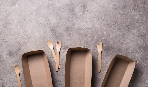Recipientes de comida rápida ecologicamente corretos
