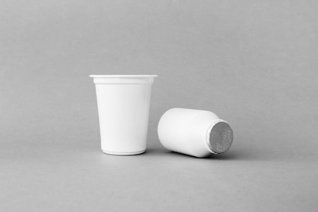 Recipientes de plástico de laticínios