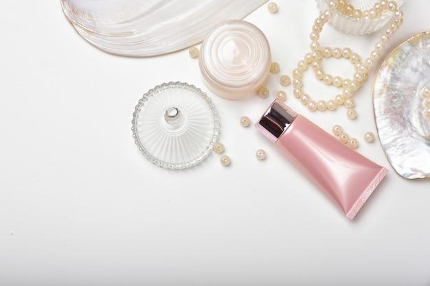 Recipientes para frascos de cosméticos com essência de extração de pérolas marinhas